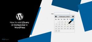 How to add jQuery UI Datepicker in WordPress