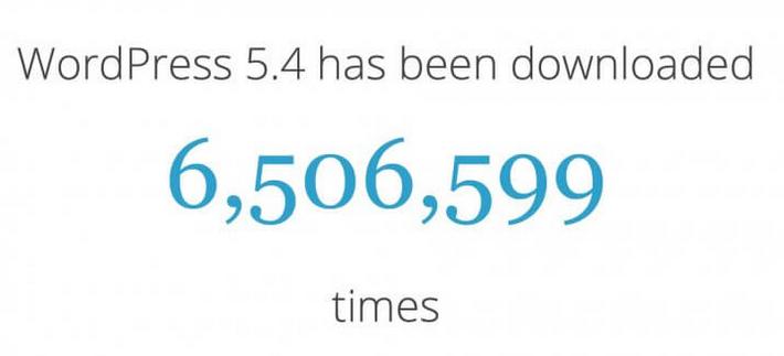 wordpress 5.4 stats