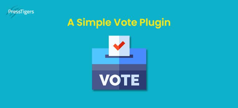 A Simple Vote Plugin by PressTigers