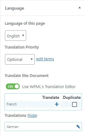 Build a wordpress website that is bilingual